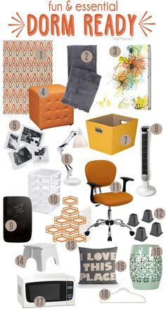 Get Dorm Room Ready with these fun and essential items. Details at TidyMom.net