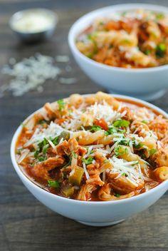 Slow Cooker Chicken Parmesan Soup