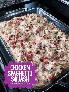 Easy and Healthy Chicken Spaghetti {Squash} Recipe | a runner's grace