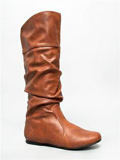 Delura KALEESI Slouchy Flat Knee High Boot.