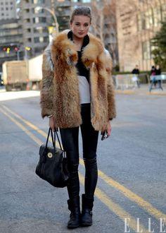 This is my kind of look. fox, fur coat, vintag fur