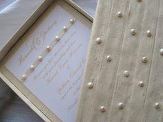 Revelry Invitation Studio Freshwater Pearl Silk Invitation Box