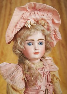 Lovingly named by doll collectors A.T. Kestner. This doll made by the Kestner firm in Germany appears to have kept her beautiful original clothing.