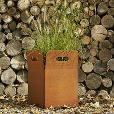 Corten box planter