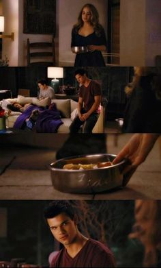 New deleted scene from Breaking Dawn part 1 Extended edition ( Jacob throws Bowl at Rosalie's head) they do should have put this in!