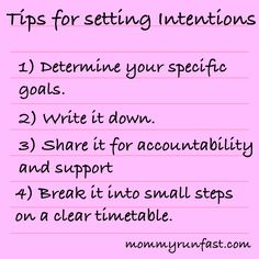 Tips for setting intentions