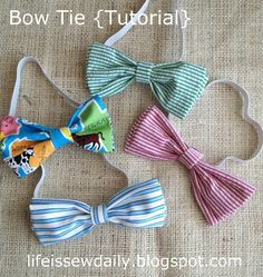 Bow Ties for Baby & Toddler {Tutorial} sew, craft, tutorials, bow ties, bows, babi, toddlers, boy, toddler tutori