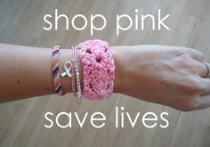 Support AMERICAN CANCER SOCIETY and pick one of these cute bracelets up by clicking on the image!