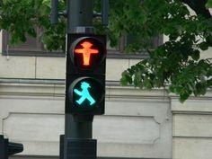 Ampelmännchen - pedestrian crossing signals in former East Germany