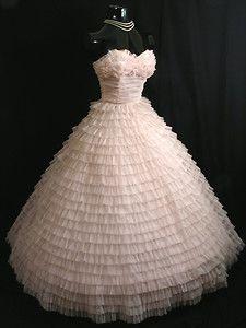 Vintage 1950's pink chiffon dress wedding dressses, party dresses, pink wedding dresses, vintage prom dresses, vintage pink, pink weddings, prom party, chiffon dresses, parti