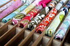 Tons of Fabric Storage Inspiration & Tips {Get Organized} - EverythingEtsy.com #organized