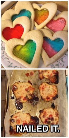 These stained-glass cookies
