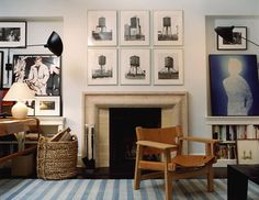 David Netto {white eclectic living room}