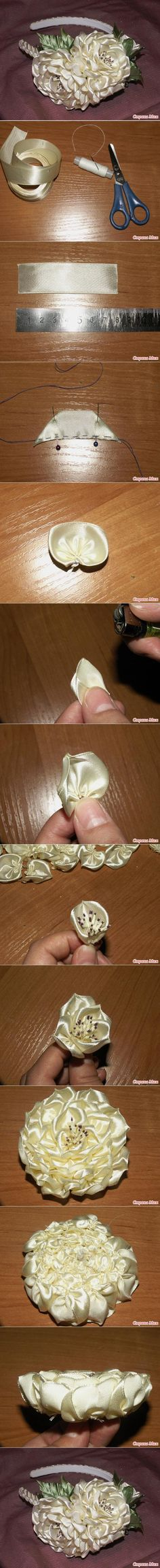 DIY Layer Ribbon Flower DIY Layer Ribbon Flower