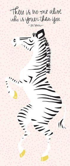Pink Zebra (Dr. Seuss quote)