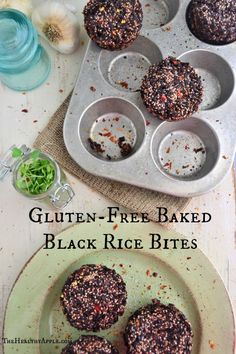 Gluten-Free Baked Black Rice Bites TheHealthyApple.com #glutenfree #recipe #healthy