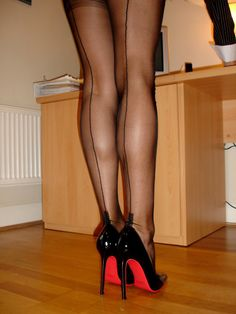 Pretty Stockings & Louboutins....Sweet....