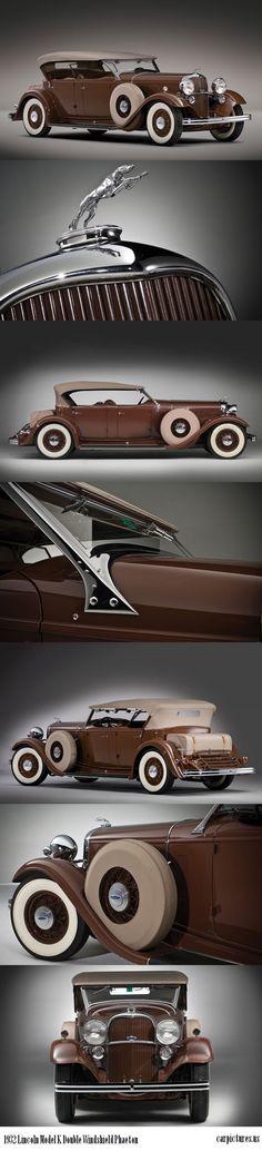 1932 Lincoln Model K Double Windshield Phaeton // Gugli917