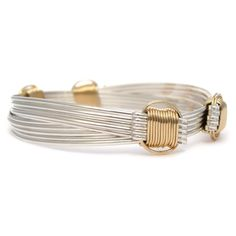 Safari Five Strand Gold and Silver Elephant Hair Bracelet