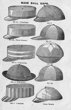 vintage baseball caps, something fun to blow up and hang for decoration showing the history of baseball