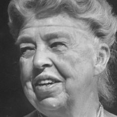 Eleanor Roosevelt. Watch the video at Biography.com