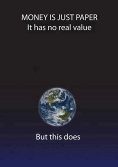 Value our earth.