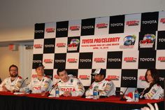 2012 Toyota Pro/Celebrity Race winner Adam Carolla answers questions at the post-race press conference. #TPCR