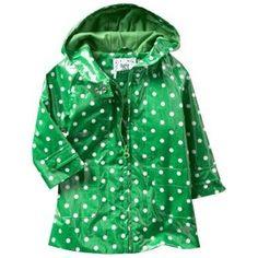 toddler girls raincoats green