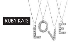 Let your signature style shine in this pavé diamond Initial charm necklace by Ruby Kats! Shop now on http://chictreat.com bridesmaid gifts, wedding gifts
