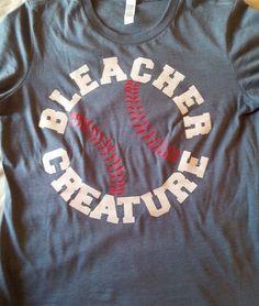 Baseball TShirt Softball TShirt Bleacher Creature by TShirtNerds, $17.95