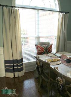 DIY Drop Cloth Curtains   From the Scoop pinned by www.cedarhillfarmhouse.com