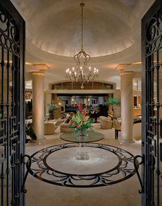 Luxury foyers john b scholz architect inc desert for Grand home designs inc