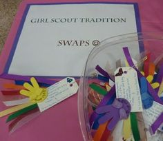 Take a look at these Girl Scout Promise SWAPS!