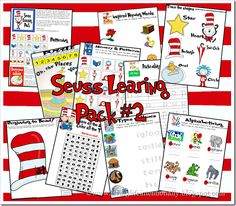 Dr. Seuss {FREE} Preschool Printables. This is pack 2 (there are 3) with 30 pages for kids 2-7