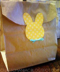 Easter Bunny Treat Bags #easter
