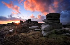 Sunset over an English moor