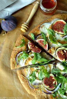 Fig and Goat Cheese Pizza with Whole Wheat Crust | Del's Cooking Twist