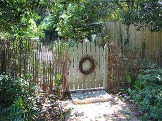 Sweet little garden gate.