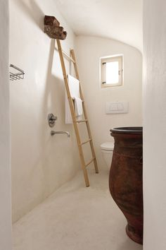 "bathroom at rental villa | ""cyrene santorini"" | greece)"