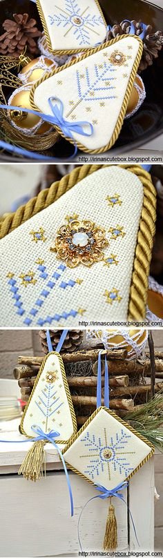 Free cross stitch pattern for Christmas.     http://irinascutebox.blogspot.com/2011/12/free-cross-stitch-design-for-christmas.html