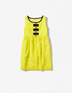 YELLOW DRESS WITH 3 BOWS - Dresses - Girl (2-14 years) - Kids - ZARA United States