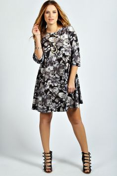 Coralie 3/4 Sleeve Floral Swing Dress is on sale now for - 25 % !