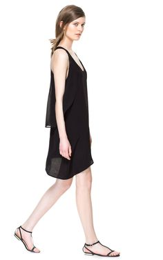 Image 2 of DRESS WITH SIDE FLOUNCE from Zara