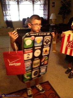 iPhone Costume - Halloween Costume Contest via @costume_works