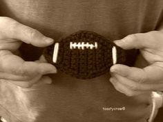 Free Crochet Pattern Football Embellishment