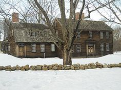 Hartwell Tavern,Concord,Massachusetts in winter