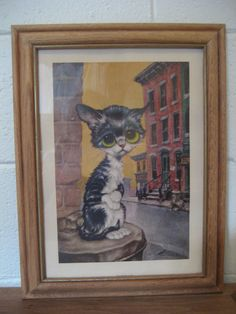 Vintage 1960's BigEyed Pity Kitty By Gig by ShesARainbowVintage