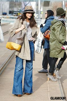 leopard, breton stripe, texture, wide legs, and grey & yellow
