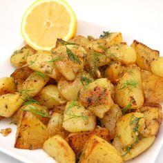 Greek Style Lemon Roasted Potatoes
