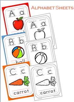 I have added a file for alphabet posters - in color and B  W to the  123 Learn Curriculum web site.   You will find this file under the Alphabet link - bottom left hand side. Just click on the picture to access the file. )  Please visit web site to learn how to join and or free downloads.